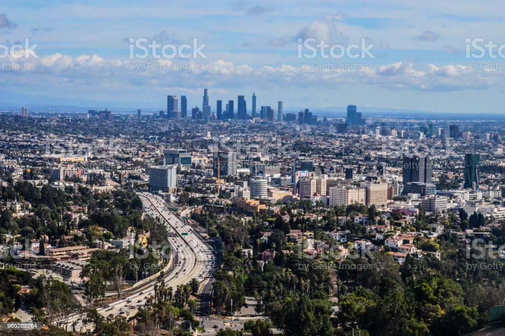 Overhead View of Downtown Los Angeles zbiór zdjęć royalty-free
