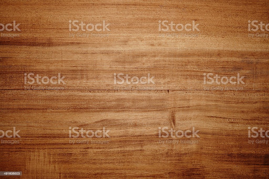 Overhead view of light brown wooden table bildbanksfoto