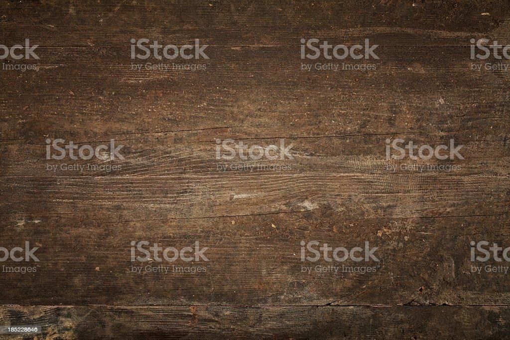 Blickwinkel des alten dunklen braunen Holztisch – Foto