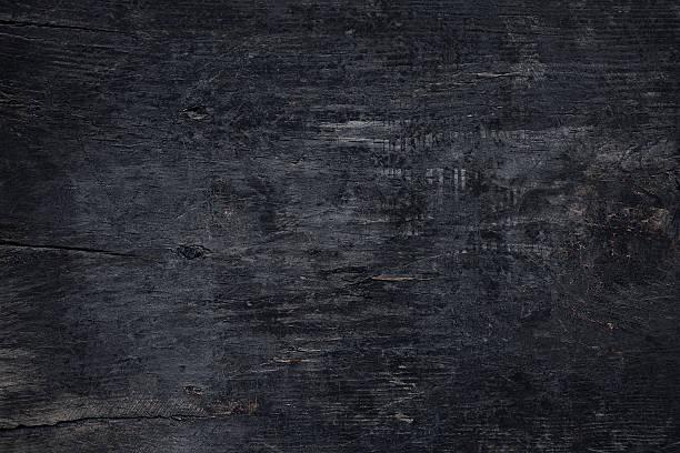 Blickwinkel des alten dunklen Holz-Tisch – Foto