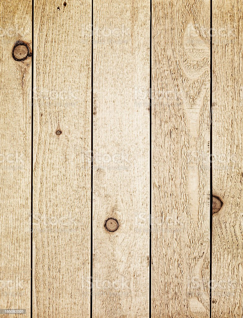 Overhead view of old light brown wooden table royalty-free stock photo
