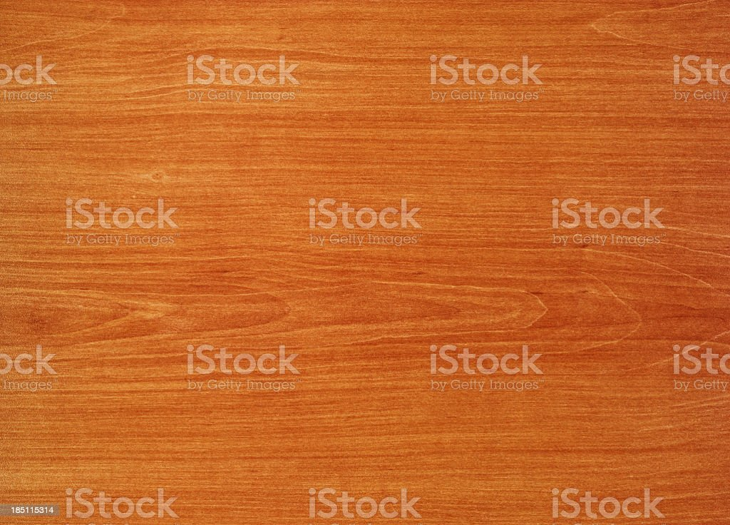 Overhead view of old light orange wooden table stock photo
