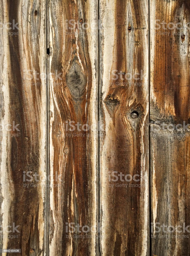 Overhead view of old wooden surface royalty-free stock photo