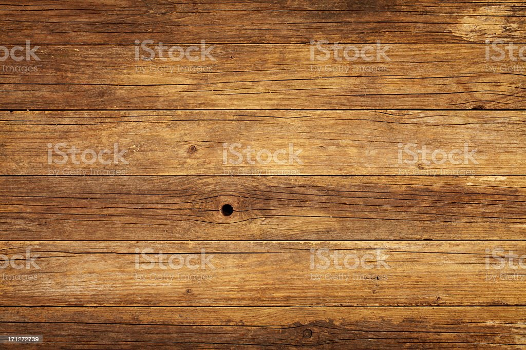 Overhead view of old wooden table royalty-free stock photo