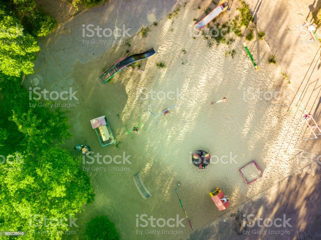overhead view of playing ground for children royalty-free stock photo
