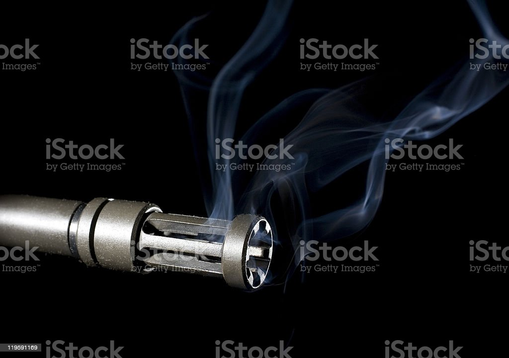 overheated barrel stock photo