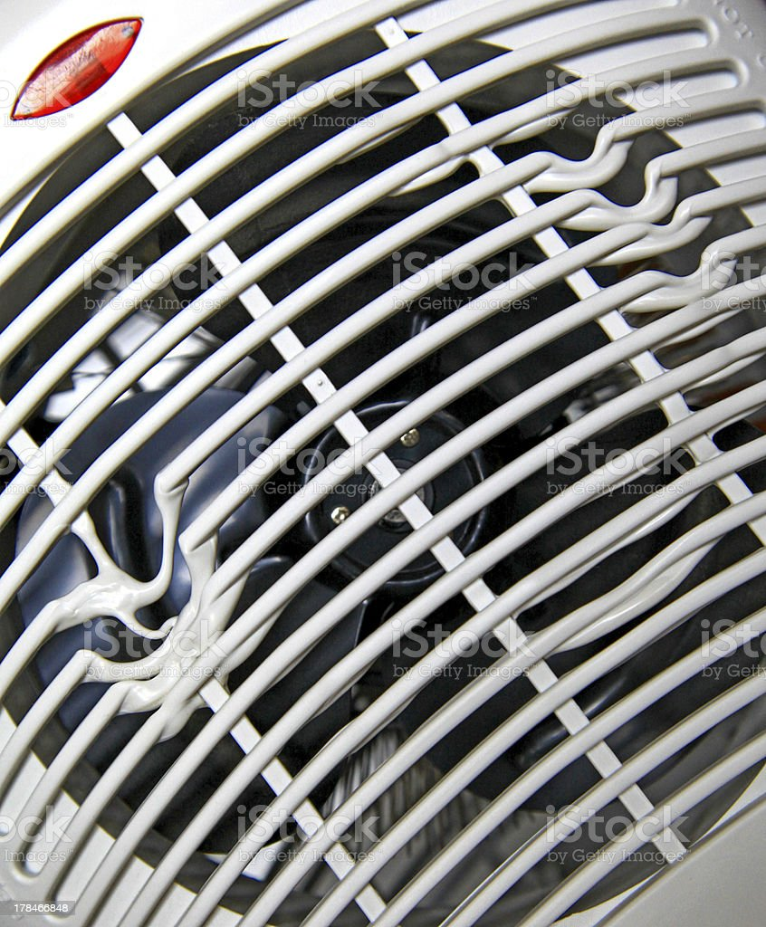 Overheated electric fan heater royalty-free stock photo