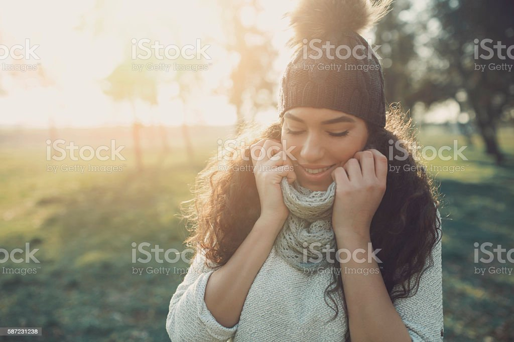 Overjoyed stock photo