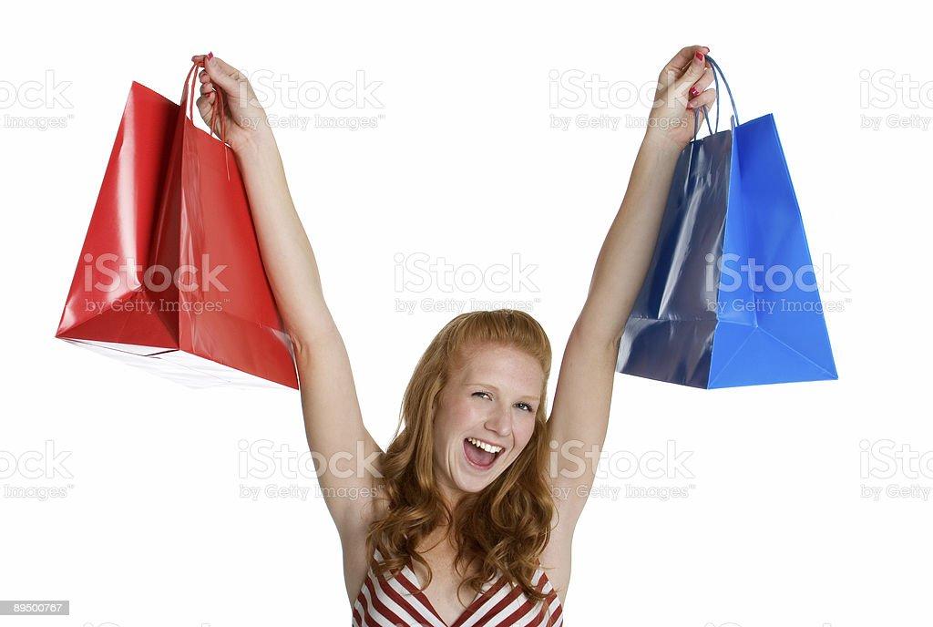 Felicissimo shopper foto stock royalty-free