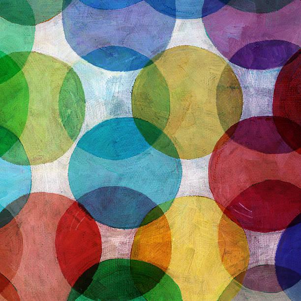 Overlapping Circle Pattern stock photo