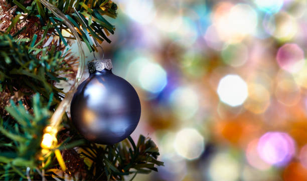 overlapping circles and shapes with colored ball on tree - gradients golden ribbons imagens e fotografias de stock