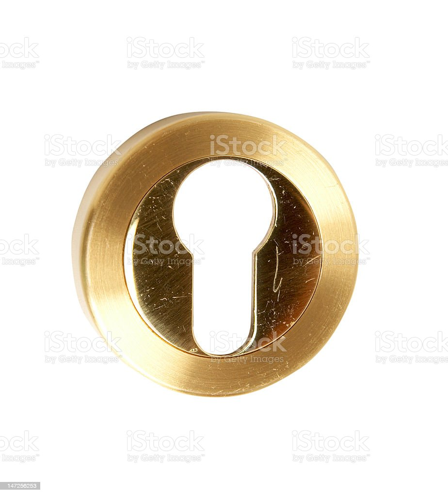Overlay on the lock with a keyhole royalty-free stock photo