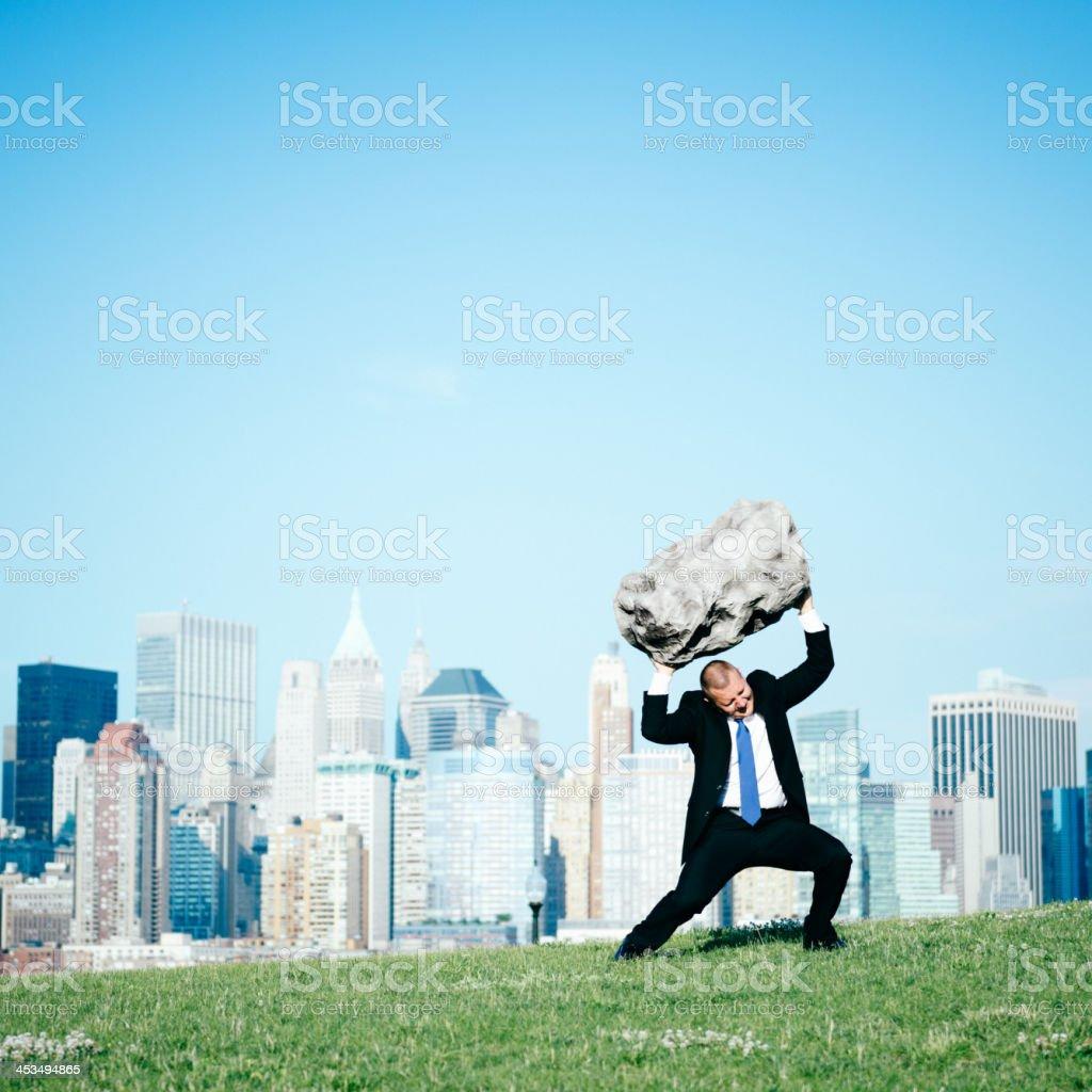 Overloaded Businessman stock photo