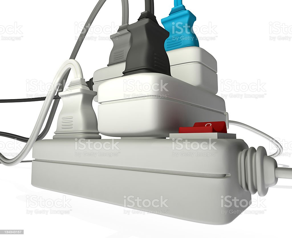overloaded electrical royalty-free stock photo