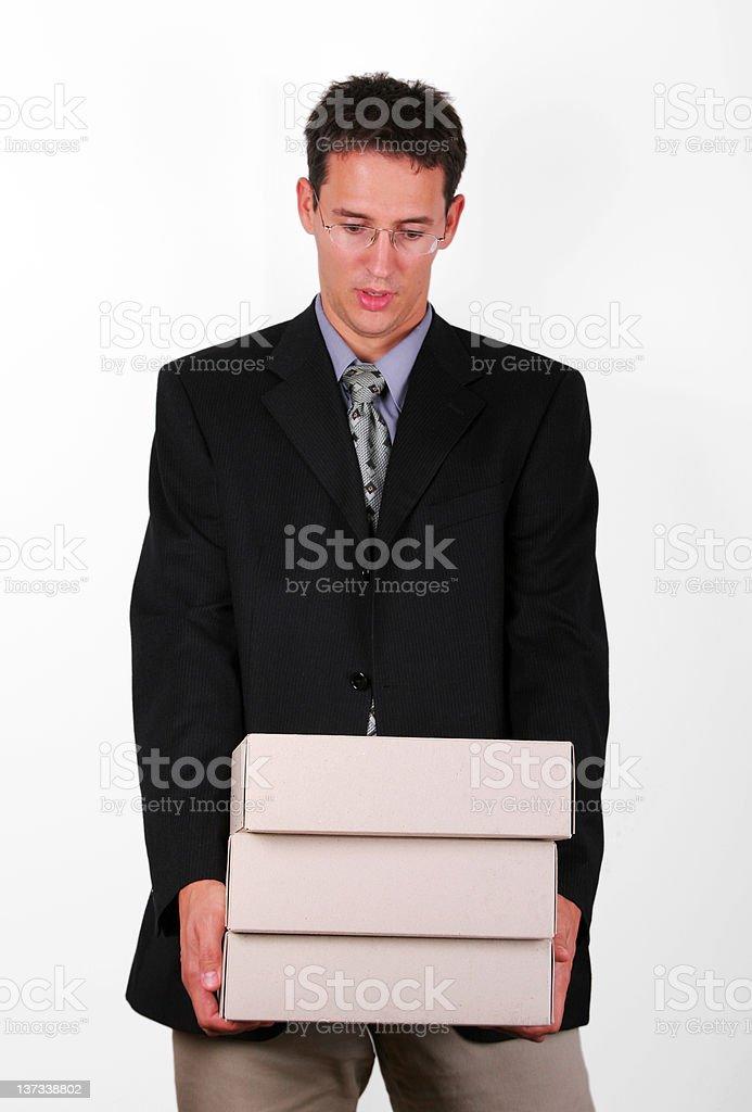 Overloading business men royalty-free stock photo