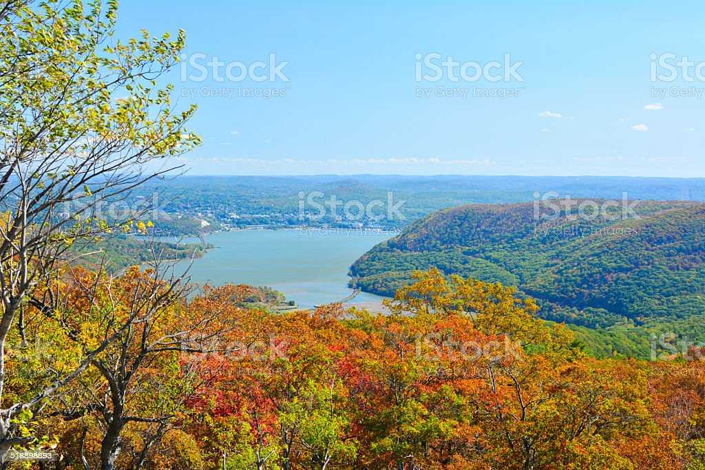 Overlook at bear mountain state park, New York USA stock photo