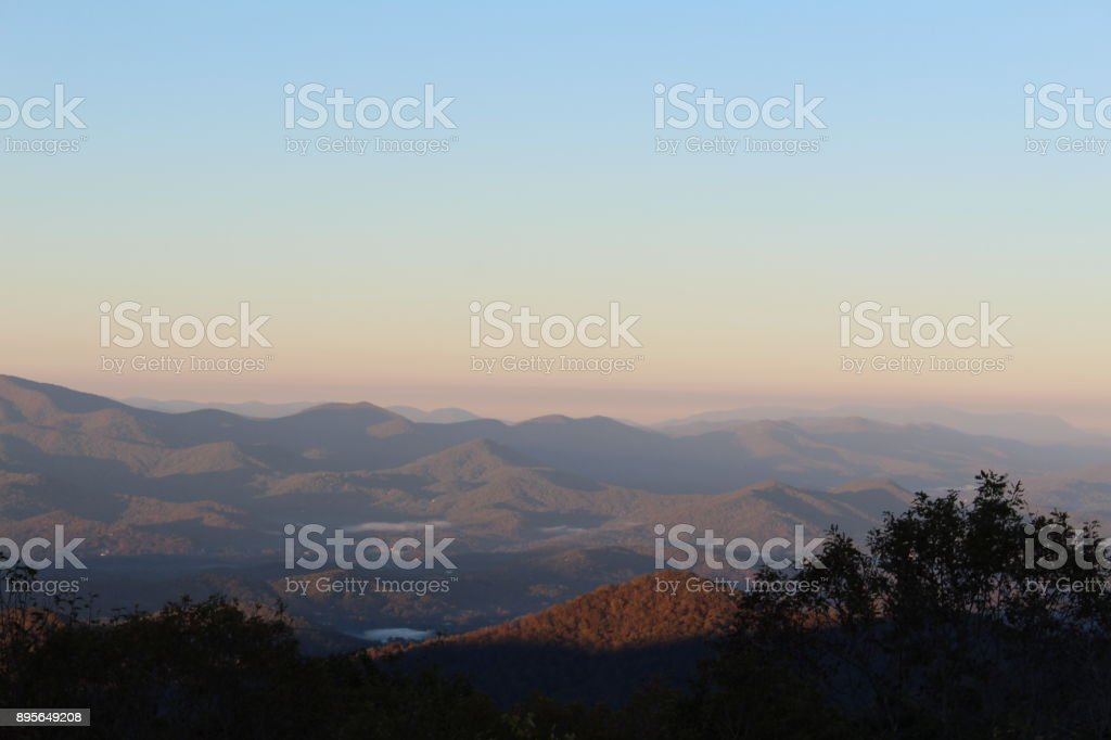 Overlook at Brasstown Bald stock photo