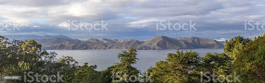 Overlook Marin Headlands from San Francisco stock photo