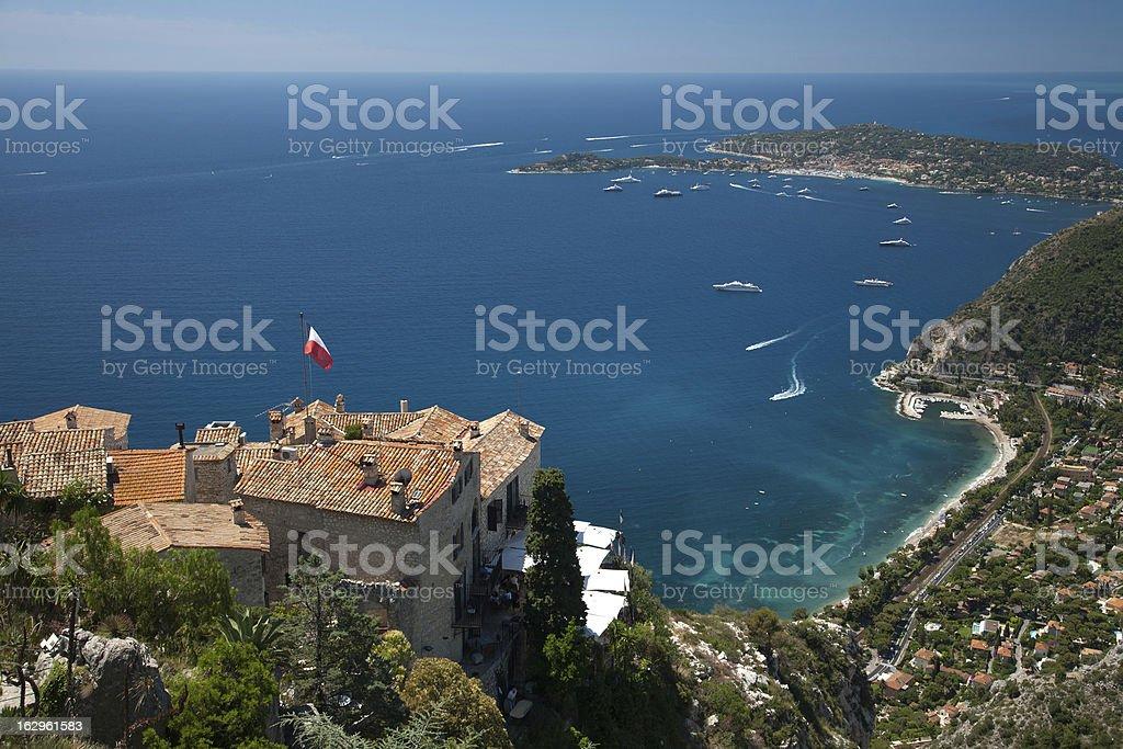 Overlook Mediterranean sea in Summer stock photo