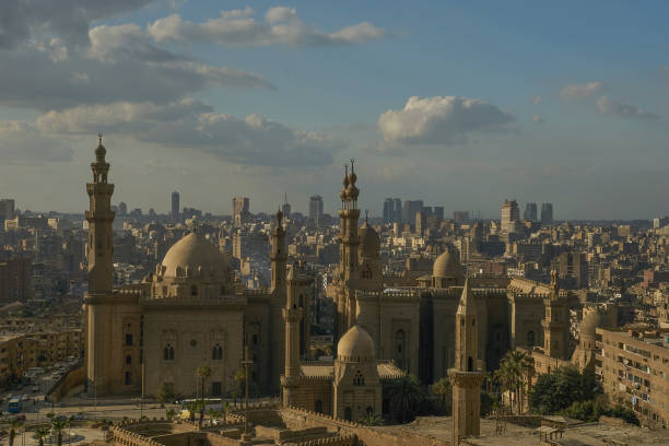 Overlook of Islamic Cairo, Egypt as Seen from the Citadel stock photo