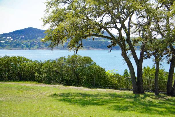 Overlook Park at Canyon Lake, Texas stock photo