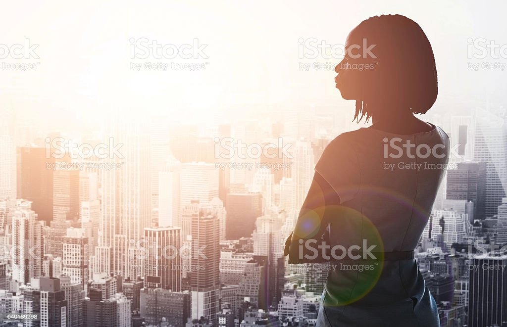 Overlooking a city filled with possibility stock photo