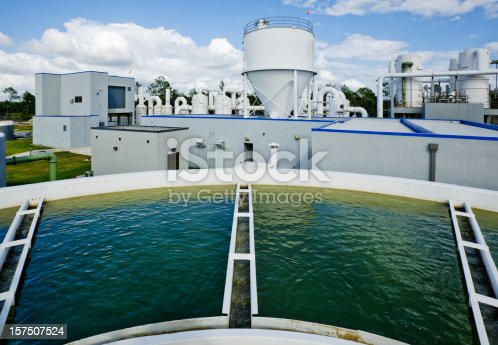 Looking at a water treatment plant.
