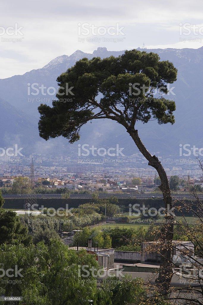 Overlooking an Italian Landscape royalty-free stock photo