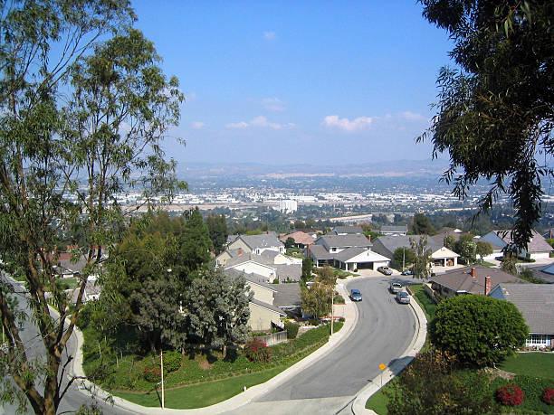 Overlooking Anaheim stock photo