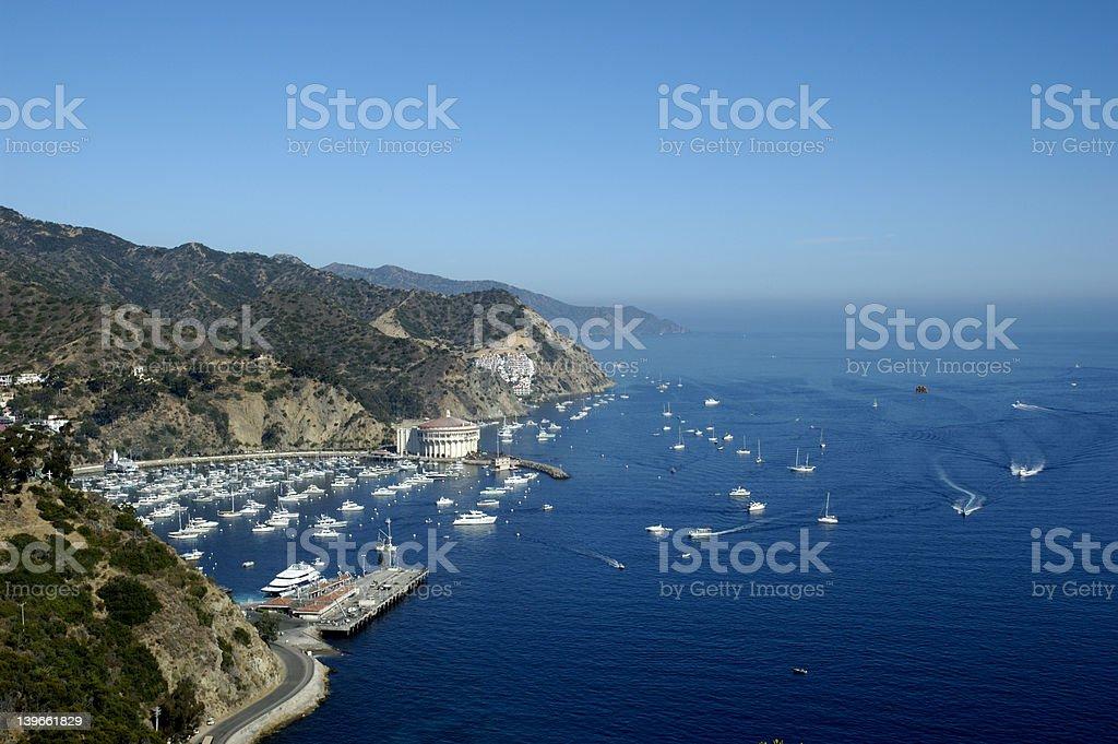 Overlooking Catalina Island stock photo