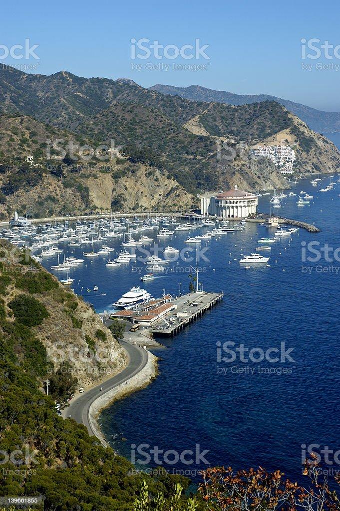 Overlooking Catalina Island royalty-free stock photo