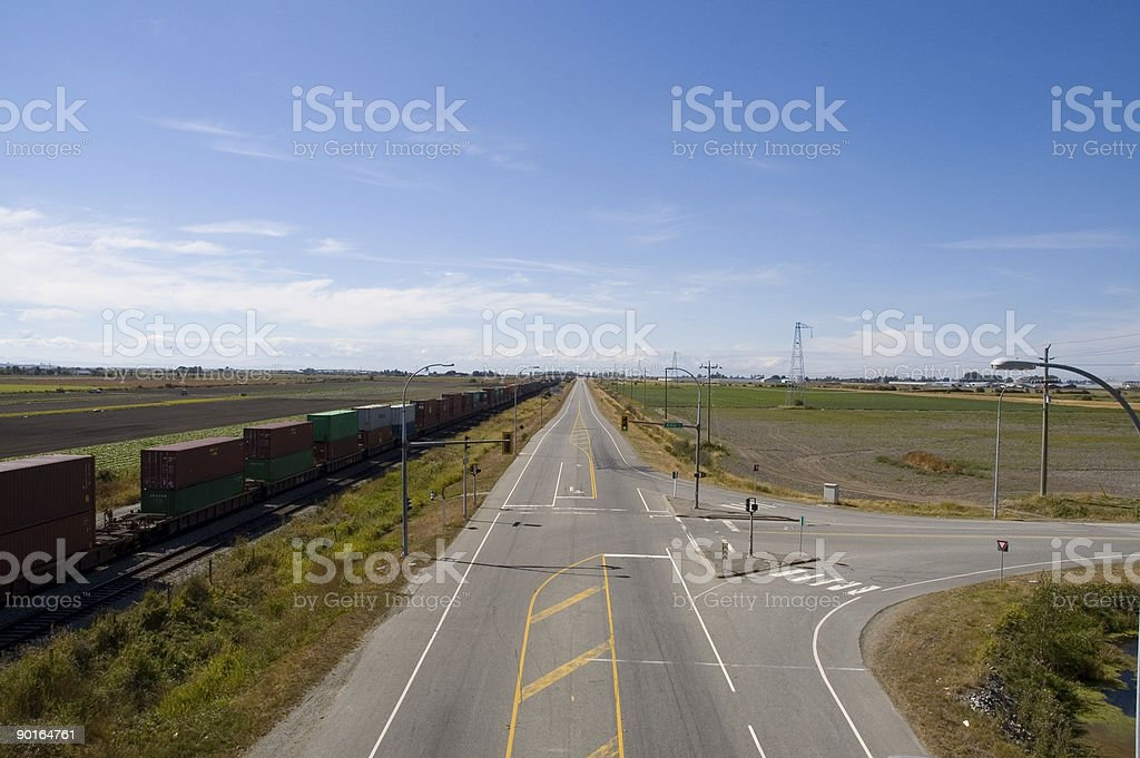 Overlooking Deltaport Road royalty-free stock photo