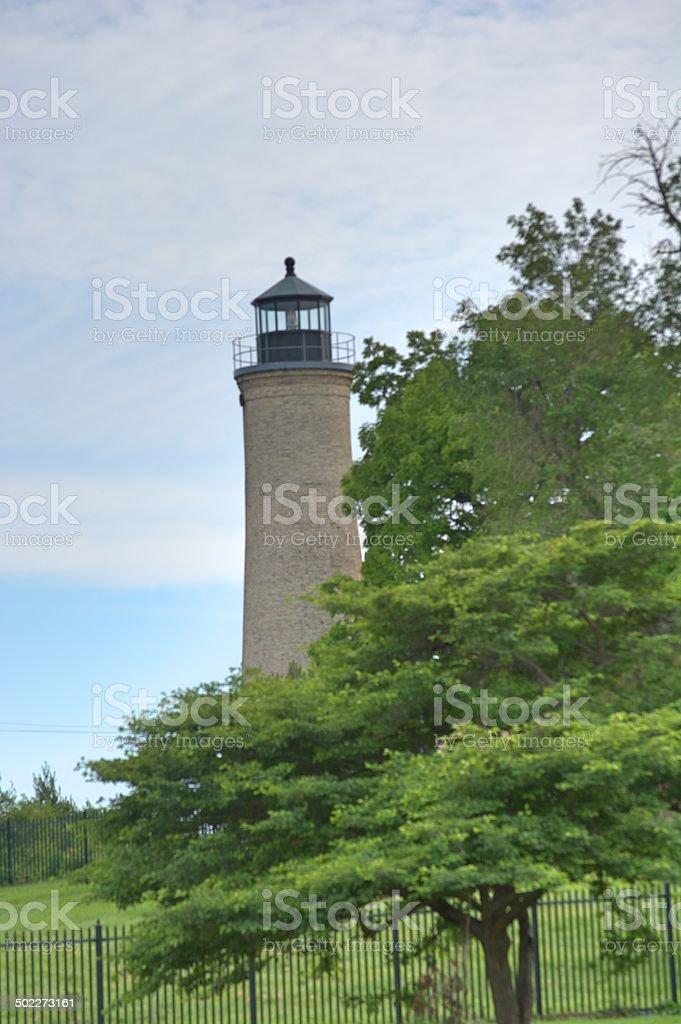 Overlooking Michigan stock photo
