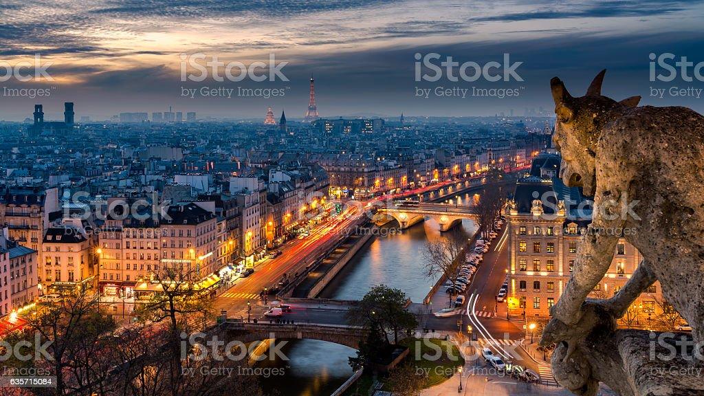 Overlooking Paris royalty-free stock photo