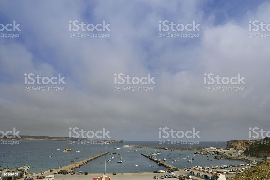 Overlooking Sagres Marina royalty-free stock photo
