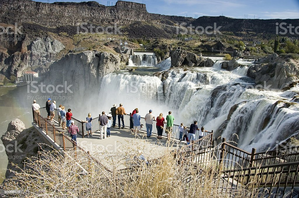 Overlooking Shoshone Falls stock photo