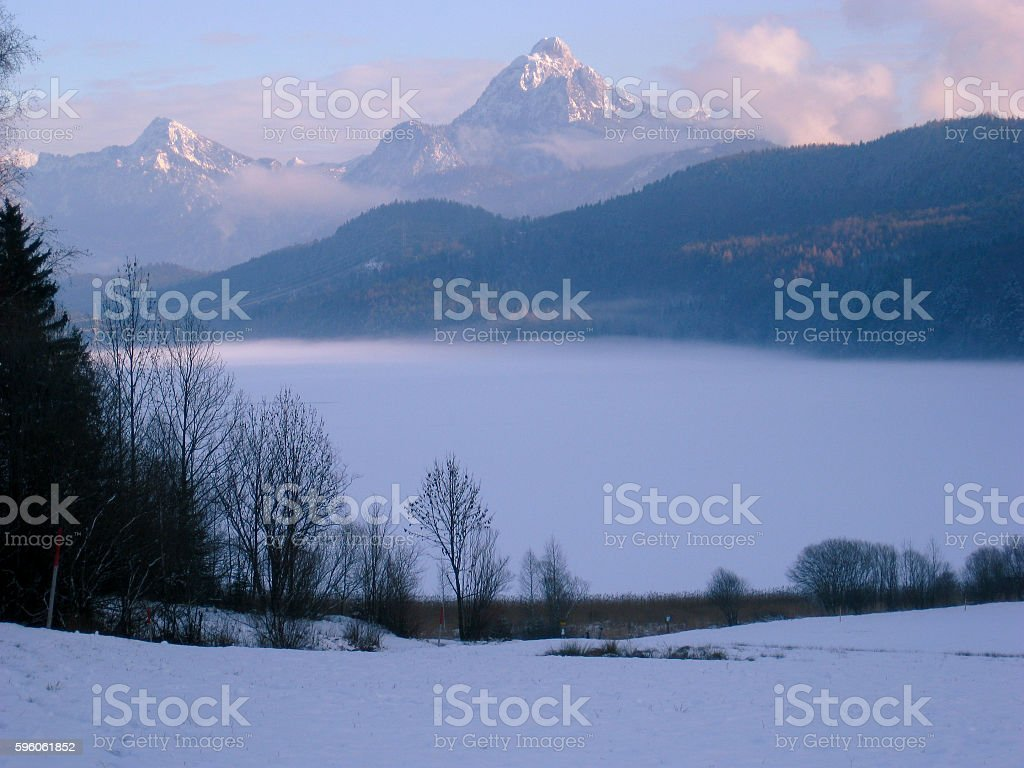 Overlooking the Alps royalty-free stock photo