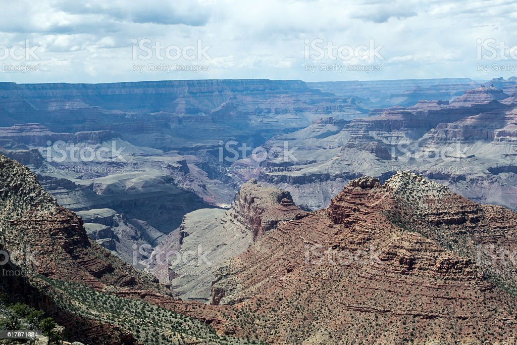 Overlooking the Grand Canyon stock photo