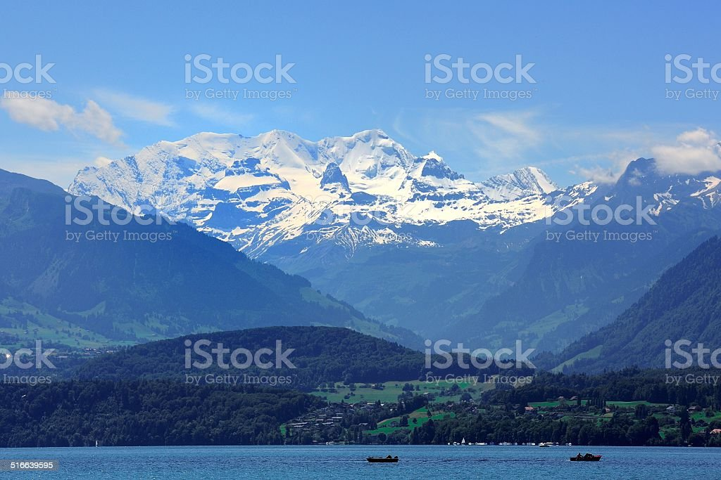 Overlooking the Jungfrau mountains 01 stock photo
