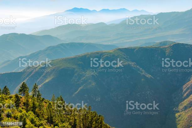 Photo of Overlooking the layers of the San Bernardino Mountains in California(P)