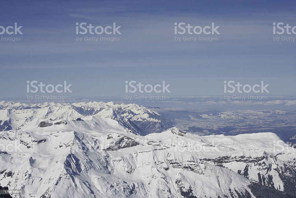 Overlooking the mountains royalty-free stock photo