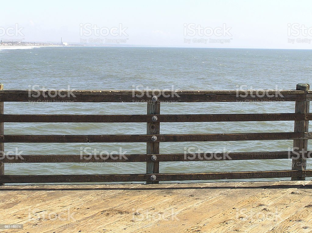 overlooking the oceanside pier royalty-free stock photo