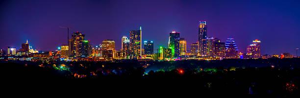 Overlooking the Tokyo Like Austin, Texas Skyline CityScape stock photo