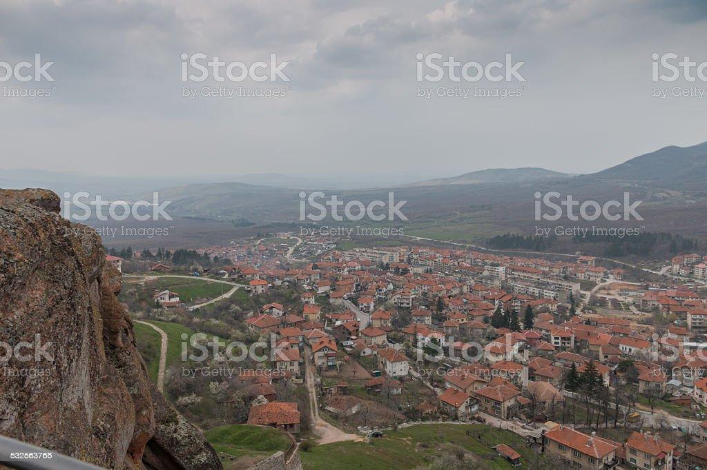 Overlooking the town of Belogradchik, Bulgaria stock photo