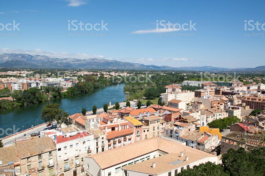 Overlooking Tortosa stock photo