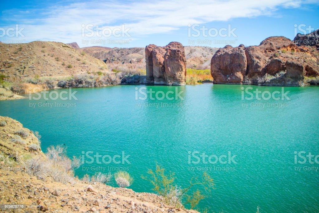 Blick auf Balanced Rock Cove - Lizenzfrei Abenteuer Stock-Foto