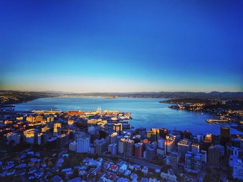 Overlooking Wellington Harbour Stock Photo - Download Image Now