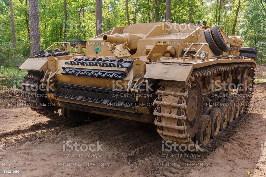 Overloon, Nederland, 21 mei 2017: StuG III Ausf. D op Militracks evenement foto