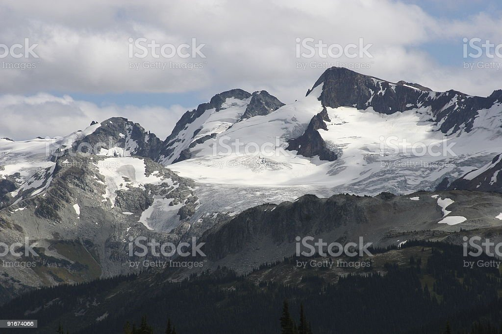 Overlord Mountain As Seen From Whistler royalty-free stock photo