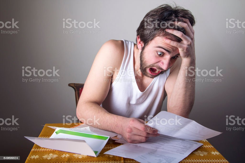 Overly expensive bills stock photo